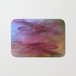 Soft Colored Ripples And Ribbons Abstract Bath Mat