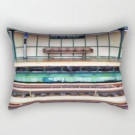 A platform bench Rectangular Pillow