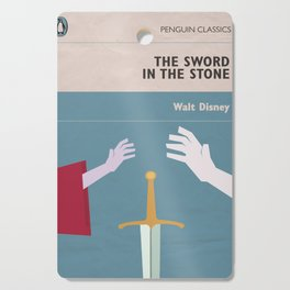The Sword in the Stone - Movie Poster - Penguin Book version Cutting Board