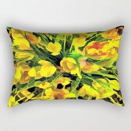 Painterly Yellow Crocuses Rectangular Pillow