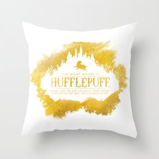Hufflepuff Throw Pillow
