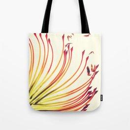 Pincushion Botanical Print Tote Bag