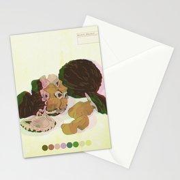 Black Walnut TRIPPY Detail 4 Stationery Cards
