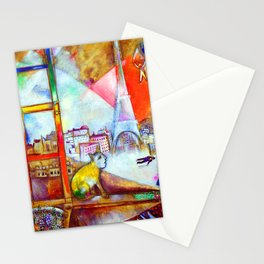 Marc Chagall Paris Through the Window Stationery Cards