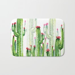 Green Cactus Field Bath Mat