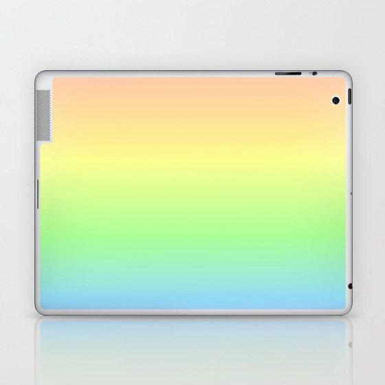 Pastel Rainbow Gradient Laptop & iPad Skin