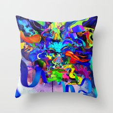 Kathakali Throw Pillow