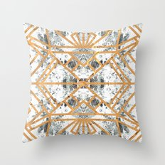 Marble Deco Shade One; Throw Pillow