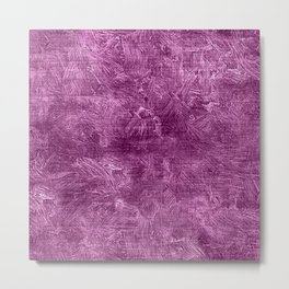 Radiant Orchid Oil Painting Color Accent Metal Print
