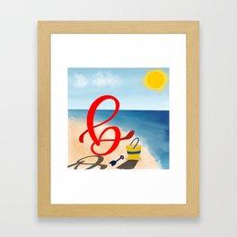 Baby B at the Beach Framed Art Print