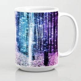 Magical Forest : Aqua Periwinkle Purple Pink Ombre Sparkle Coffee Mug