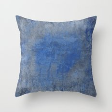 Blue and Gray Rough Texture Throw Pillow
