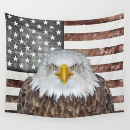 American Bald Eagle Patriot Wall Tapestry