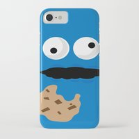 cookie monster iPhone & iPod Cases featuring Cookie Monster by Callum McGoldrick