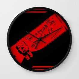 """There is no terror in the BANG...""-Alfred Hitchcock Wall Clock"