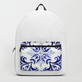 Azulejo V - Portuguese hand painted tiles Backpack