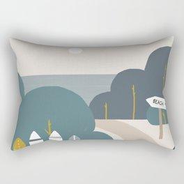 Road to the Beach Rectangular Pillow