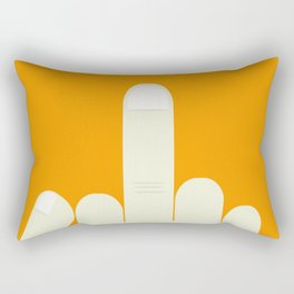 MiddleFinger Rectangular Pillow