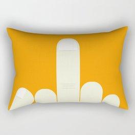 MiddleFinger Rectangular Pillow