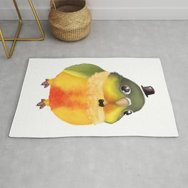 Fanciful Conure with Hat Rug
