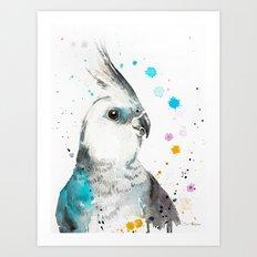 Cockatiel parrot Art Print