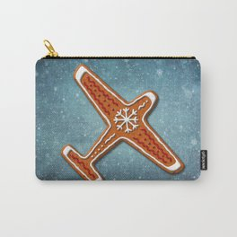Gingerbread Airplane Carry-All Pouch