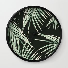 Green Palm Leaves Dream #1 #tropical #decor #art #society6 Wall Clock
