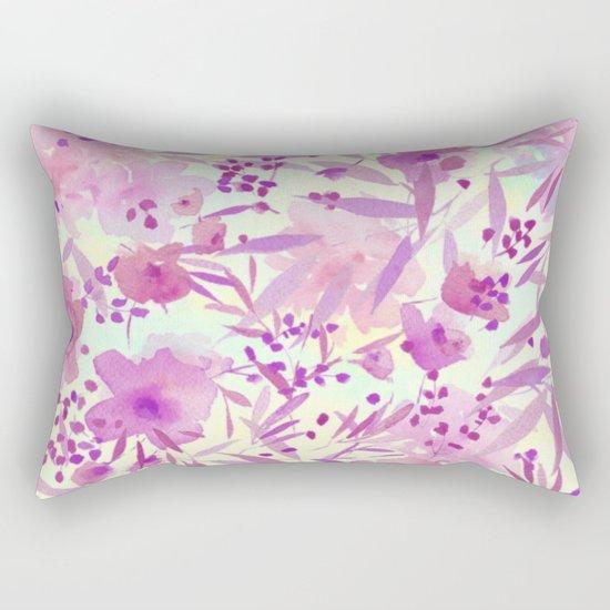 pink pretty flowers Rectangular Pillow