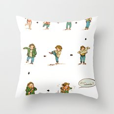 Survive Winter Throw Pillow