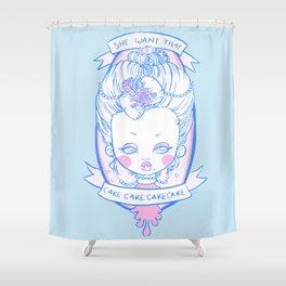 Marihannatoinette Shower Curtain