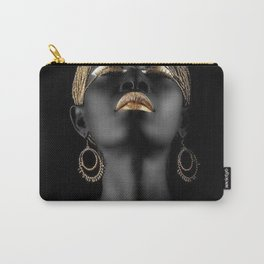 Black woman in gold style Carry-All Pouch