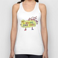cherry blossom Tank Tops featuring Cherry Blossom by PINT GRAPHICS