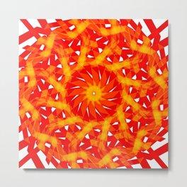 The geometric sun Metal Print
