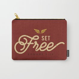 Set Free - Rust & Gold Carry-All Pouch