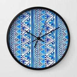 Watercolor Whimsical Pattern Wall Clock