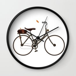 Cycling cartoon poster Wall Clock