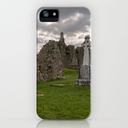 Historic Irish monastic cemetery in County Offaly, Ireland iPhone Case