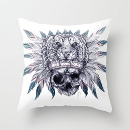 Ancient Anger Throw Pillow