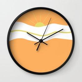 """ Orange days "" Wall Clock"