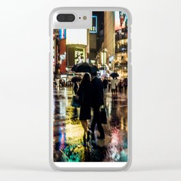 Love actually is all around - Rainy Night at Shibuyacrossing Clear iPhone Case