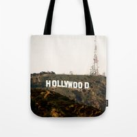 hollywood Tote Bags featuring Hollywood by Claire Jantzen