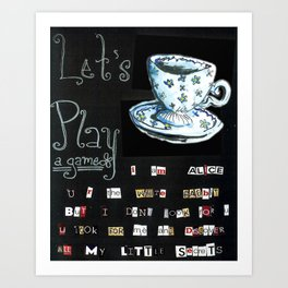 Let's Play A Game Art Print
