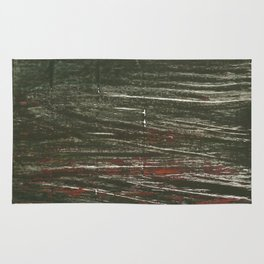 Dark striped abstract Rug