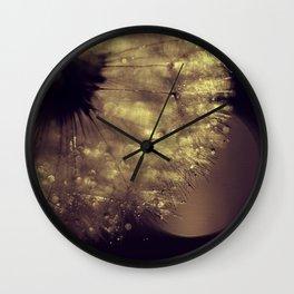 dusk  - dandelion Wall Clock