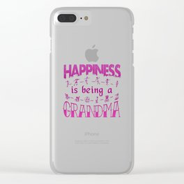 Happiness is Being a GRANDMA Clear iPhone Case