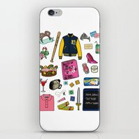mean girls iPhone & iPod Skins featuring Mean Girls by Shanti Draws