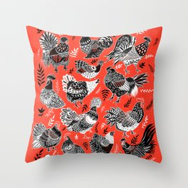 Lil Cluckers Throw Pillow