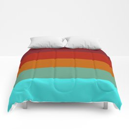 Yoshika - Multicolor Retro Stripes Comforters