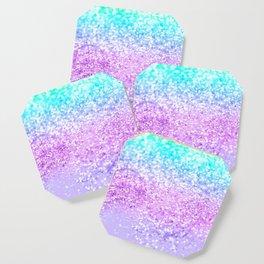 Unicorn Girls Glitter #9 #shiny #decor #art #society6 Coaster