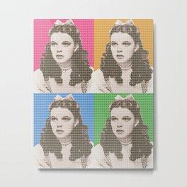 Judy Garland x 4 Metal Print